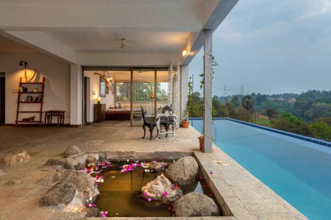 3BHK Riverside Villa in Karjat with Infinity Pool